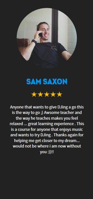 Sam Saxon Profile